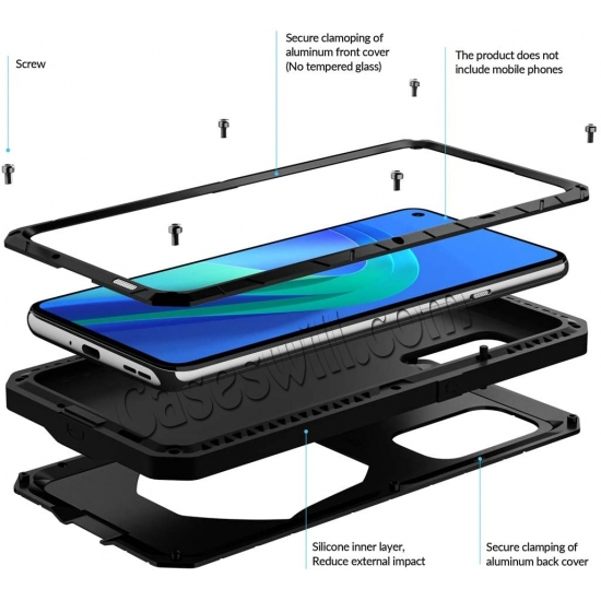 best price Case for Oneplus 9 Pro, Oneplus 9 Pro Rugged Metal Aluminum Armor Heavy Duty Bumper Cover