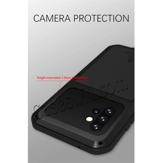 china wholesale For Samsung Galaxy A52 5G Case Shockproof Aluminum Gorilla Glass Metal Cover