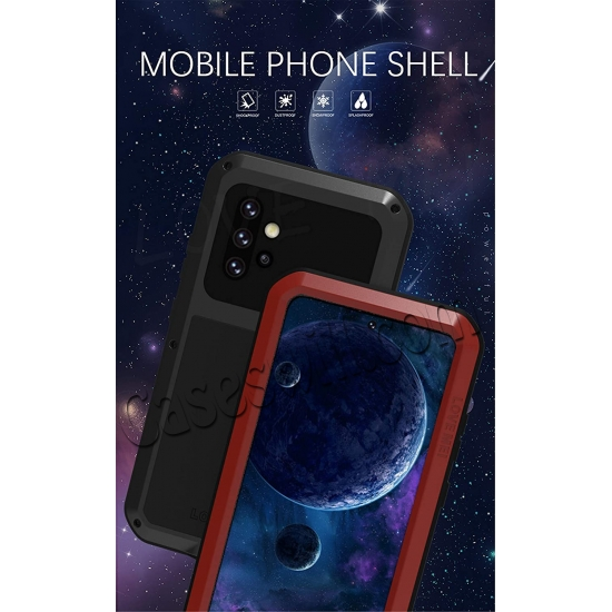 cheap wholesale For Samsung Galaxy A52 5G Case Shockproof Aluminum Gorilla Glass Metal Cover